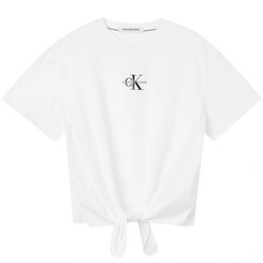 CALVIN KLEIN KNOTTED T-SHIRT WHITE