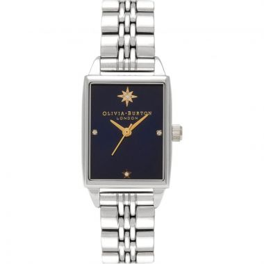 OLIVIA BURTON SUNRAY NORTH STAR NAVY DIAL AND SILVER WATCH OB16GD88
