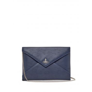 VIVIENNE WESTWOOD POLLY CHAIN POUCH BLUE