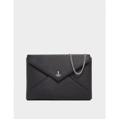 VIVIENNE WESTWOOD POLLY CHAIN POUCH BLACK
