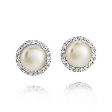 JERSEY PEARL SILVER AND PEARL AMBERLEY EARRINGS