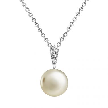 JERSEY PEARL SILVER AND PEARL AMBERLEY PENDANT