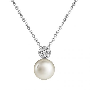 JERSEY PEARL AMBERLEY SMALL DISC PEARL PENDANT