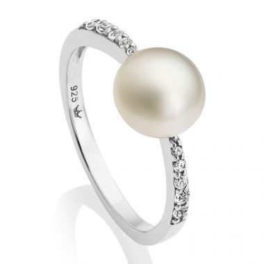 JERSEY PEARL FRESHWATER PEARL AMBERLEY RING SIZE UK P
