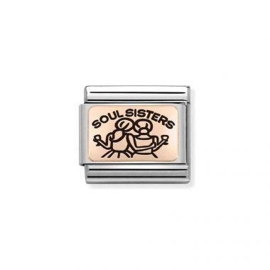 NOMINATION COMPOSABLE CLASSIC ROSE GOLD SOUL SISTERS LINK