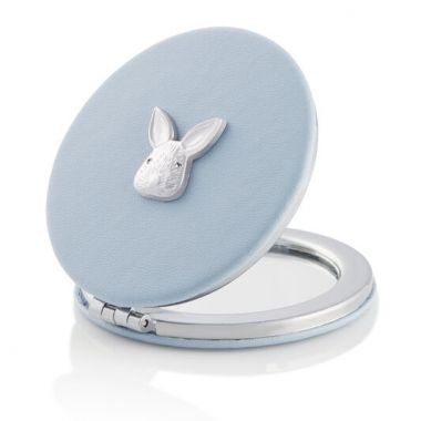 OLIVIA BURTON 3D BUNNY MIRROR CHALK BLUE & SILVER
