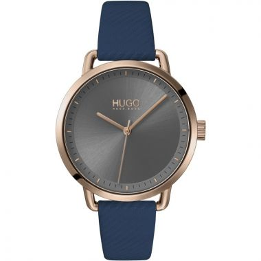 HUGO BY HUGO BOSS #MELLOW LADIES BLUE BEIGE AND GOLD WATCH