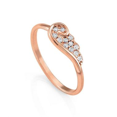 NOMINATION ANGEL WING RING IN ROSE GOLD