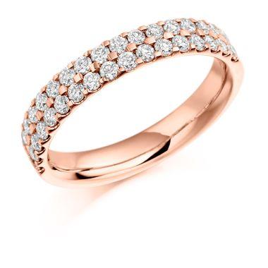 18CT ROSE GOLD DIAMOND WEDDING RING
