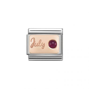 NOMINATION COMPOSABLE CLASSIC ROSE GOLD JULY RUBY LINK