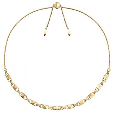 MICHAEL KORS LINK SLIDER NECKLACE IN GOLD