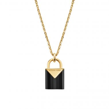 MICHAEL KORS PADLOCK PENDANT IN GOLD