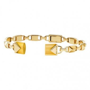 MICHAEL KORS YELLOW GOLD HINGED BANGLE