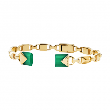 MICHAEL KORS MERCIER LINK CUFF BANGLE IN GOLD