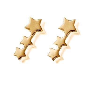 CHLOBO GOLD STUD SHOOTING STAR EARRINGS