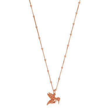 CHLOBO HUMMINGBIRD ROSE NECKLACE