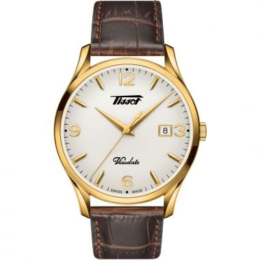 TISSOT HERITAGE VISODATE BROWN AND GOLD