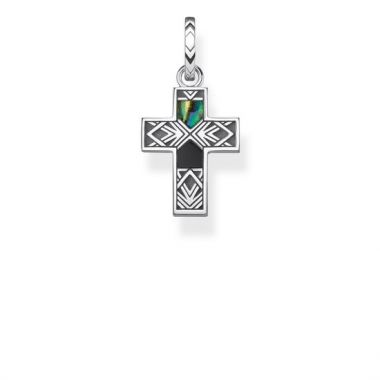 THOMAS SABO PENDANT 'CROSS ABALONE MOTHER-OF-PEARL'