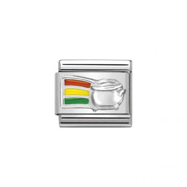 NOMINATION COMPOSABLE CLASSIC SILVERSHINE RAINBOW AND POT GOLD CHARM