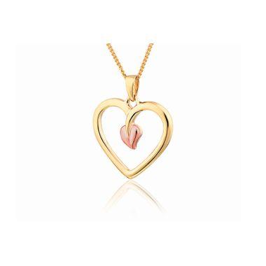CLOGAU GOLD TREE OF LIFE HEART PENDANT