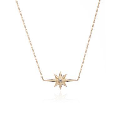 RACHEL JACKSON LONDON   SHOOTING STAR DIAMOND NECKLACE   GOLD