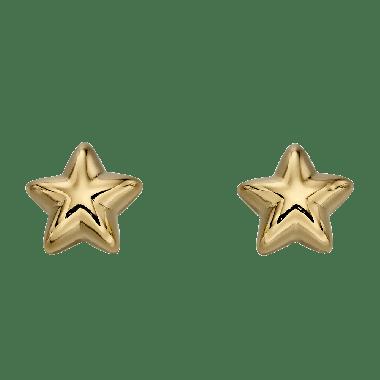 LITTLE STAR SOPHIE YELLOW GOLD STAR EARRINGS