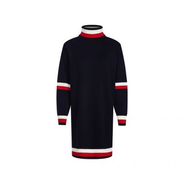 TOMMY HILFIGER MOCK NECK SWEATER IN SKY CAPTAIN