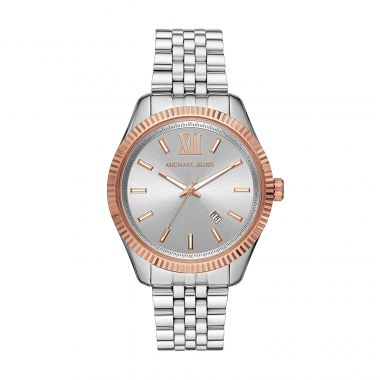 MICHAEL KORS LEXINGTON STAINLESS STEEL LADIES WATCH WITH ROSE GOLD TONES
