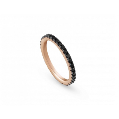 NOMINATION EASYCHIC ROSE RING WITH BLACK CUBIC ZIRCONIA