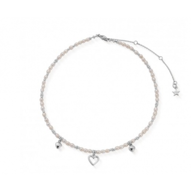 CHLOBO FOREVER LOVE NECKLACE PEARLS & STERLING SILVER