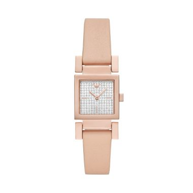 EMPORIO ARMANI LADIES' VALENTINA ROSE GOLD AND NUDE LEATHER WATCH