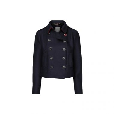 TOMMY HILFIGER CASHMERE BLEND DOUBLE-BREASTED UTILITY JACKET