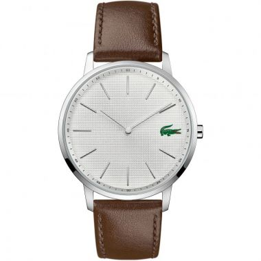 LACOSTE GENT'S BROWN LEATHER MOON WATCH