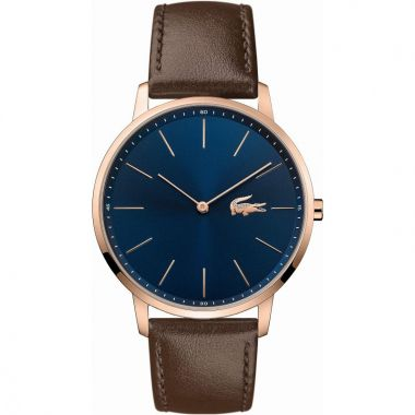 LACOSTE GENT'S MOON BROWN STRAP WATCH