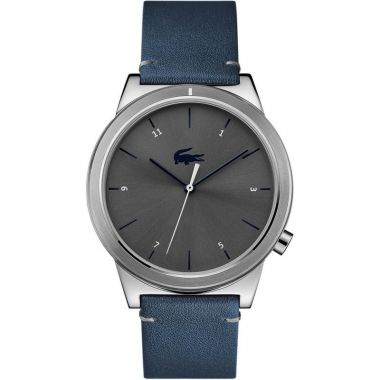 LACOSTE GENT'S MOTION WATCH WITH BLUE LEATHER STRAP