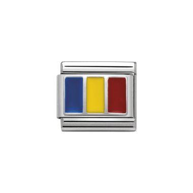 NOMINATION CLASSIC SILVERSHINE ROMNIA FLAG CHARM
