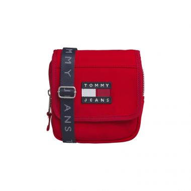 TOMMY JEANS HERITAGE FLAP XOVER BAG IN FORMULA ONE
