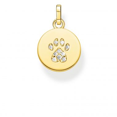 THOMAS SABO PENDANT DISC PAW GOLD