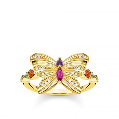 THOMAS SABO RING BUTTERFLY GOLD