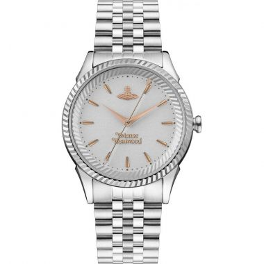 VIVIENNE WESTWOOD SEYMOUR STAINLESS STEEL WATCH WITH ROSE TONE