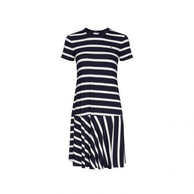 TOMMY HILFIGER STRIPED RELAXED FIT DRESS