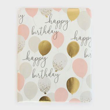CAROLINE GARDNER FOIL BALLOONS BIRTHDAY FLAT WRAP