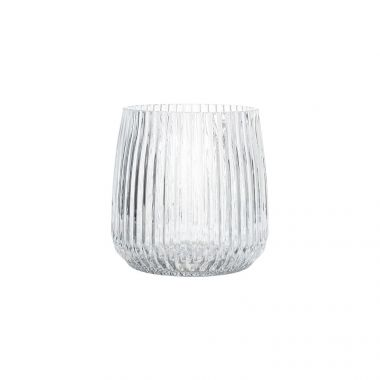 BLOOMINGVILLE VOTIVE CLEAR GLASS CANDLE HOLDER