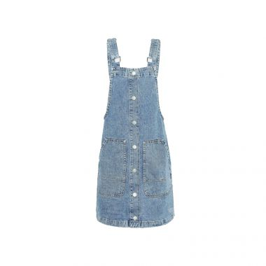 TOMMY JEANS SHORT DUNGAREE DRESS