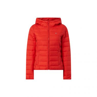TOMMY JEANS HOODED QUILT ZIP THRU JACKET