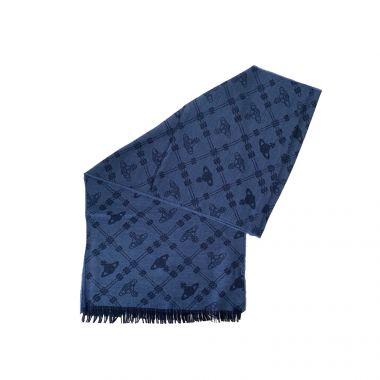 VIVIENNE WESTWOOD BLUE UP AND DOWN SCARF