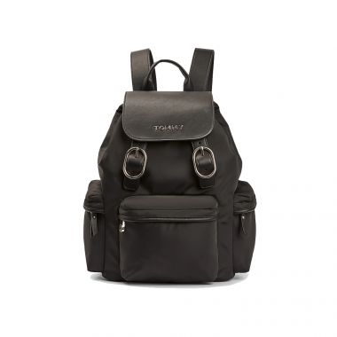 TOMMY HILFIGER LOGO BUCKLE BACKPACK