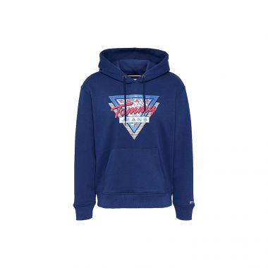 TOMMY JEANS MOUNTAIN LOGO RELAXED FIT HOODY