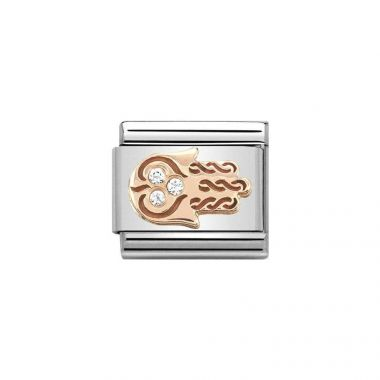 NOMINATION COMPOSABLE CLASSIC ROSE GOLD ZIRCONIA HAND OF FATIMA LINK