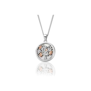CLOGAU TREE OF LIFE WHITE MOTHER OF PEARL PENDANT
